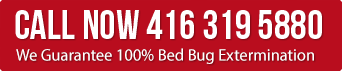 Call for Guarantee bed bug extermination