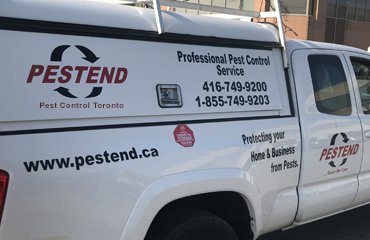Discreetly Marked Pest Control Trucks