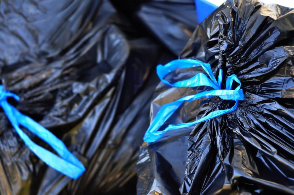 tied garbage bag