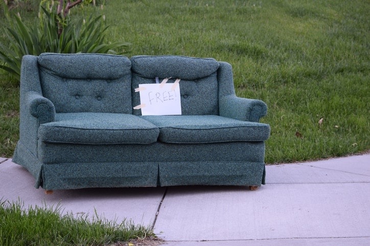 Free Couch on a Sidewalk